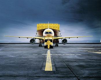 DHL Frachtflugzeug